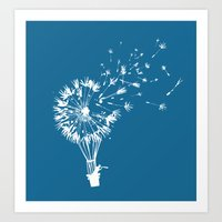 wind Art Prints featuring Going where the wind blows by Picomodi