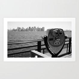 A View of Manhattan Art Print