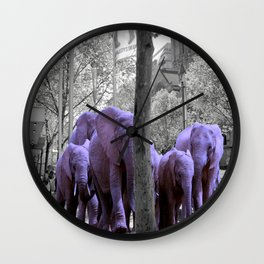 Purple guests Wall Clock