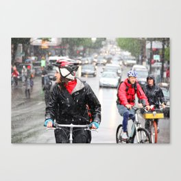 The Bicyclist Canvas Print