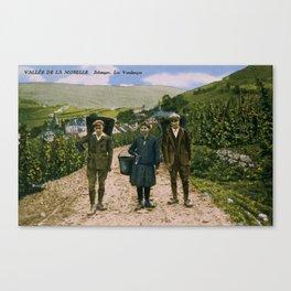 1900 Mosel wine harvest Schengen Luxembourg Canvas Print