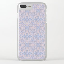 Light pink and blue tapestry 4635 Clear iPhone Case