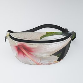 White Bloom with Pink Pistil Fanny Pack