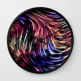 Psychedelic Rain Wall Clock