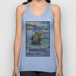 Antique travel fishing boat Heist Duinbergen Unisex Tank Top