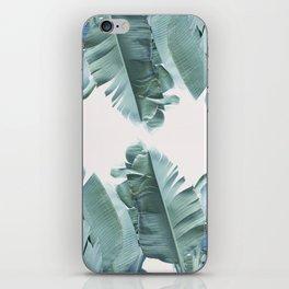 Blue Tropical Banana Leaf Plant iPhone Skin