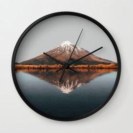 Mount Taranaki, New Zealand Artwork Wall Clock