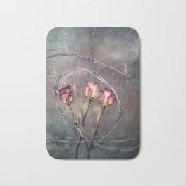 Trapped Roses Bath Mat