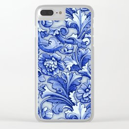Blue and White Porcelain Clear iPhone Case