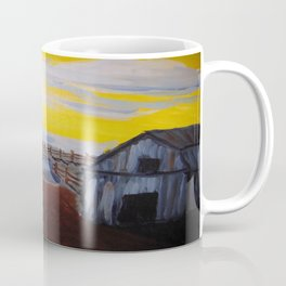 Empty Barnyard with Yellow Sky Coffee Mug