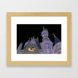 Christmas Castle Framed Art Print