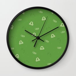 Libra Pattern - Green Wall Clock