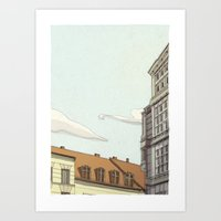 building Art Prints featuring Building by Alberto Madrigal