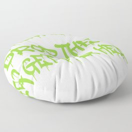 """A Cool Thug Life Tee For Gangster """"Thug Life? Drop The T & Get Over Here"""" T-shirt Design Hug Love Floor Pillow"""