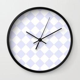 HARLEQUIN (LAVENDER & WHITE) Wall Clock
