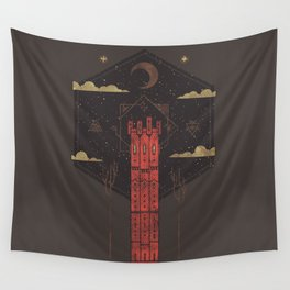 The Crimson Tower Wall Tapestry