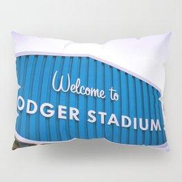 Welcome to Dodger Stadium | Los Angeles California Nostalgic Iconic Sign Sunset Art Print Tapestry Pillow Sham
