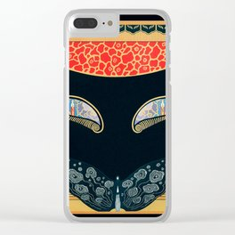 """Art Deco Design """"Eyes of Jealousy"""" by Erté Clear iPhone Case"""