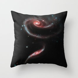 Rose of Galaxies Throw Pillow