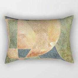 Abstract Grunge Patchwork Rectangular Pillow