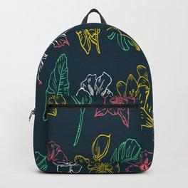 Floral Pattern Hawaiian Flowers BIrthday Gift Backpack