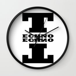 Techno Anagram Wall Clock