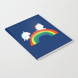 Unicorn on rainbow slide Notebook