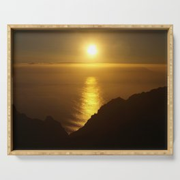 Sunset over the Canary Islands Serving Tray