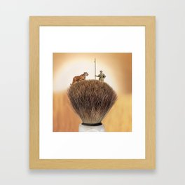Shaving Brush Savanna Framed Art Print