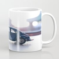 volkswagon Mugs featuring blue bug by AP Photography