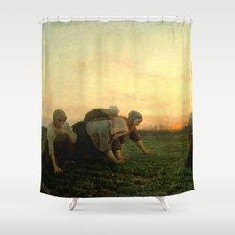 Jules Breton - The Weeders Shower Curtain