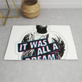 Notorious Big B.I.G it was all a dream Rug