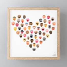 Vulva Heart Framed Mini Art Print