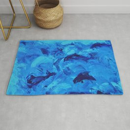Dolphins Frolicking in the Ocean Rug