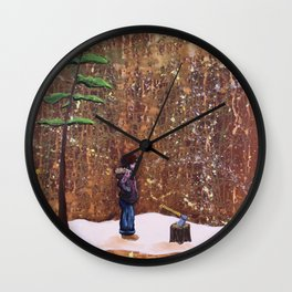 Someone Stole My Wood Wall Clock