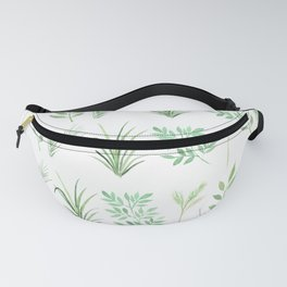 Bouquet of branches and leaves pattern, transparent background Fanny Pack