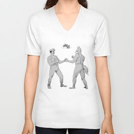 Old Timey Smash Bros Unisex V-Neck