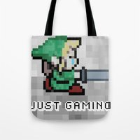 gaming Tote Bags featuring JUST GAMING by EdgarGS