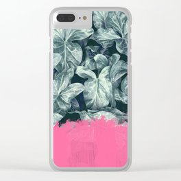 Pink Sorbet on Jungle Clear iPhone Case