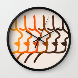 Golden Silhouettes Wall Clock