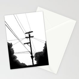 Power Lines at the bluff Stationery Cards