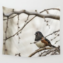 Spotted Towhee Wall Tapestry