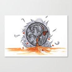 the orange prisoner Canvas Print