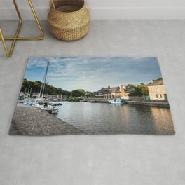 Harbour of the city of Dinan Rug