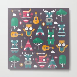 Woodland Animals | Season 1 Metal Print