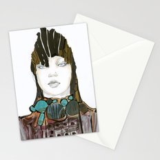 Warrior fashion portrait Stationery Cards
