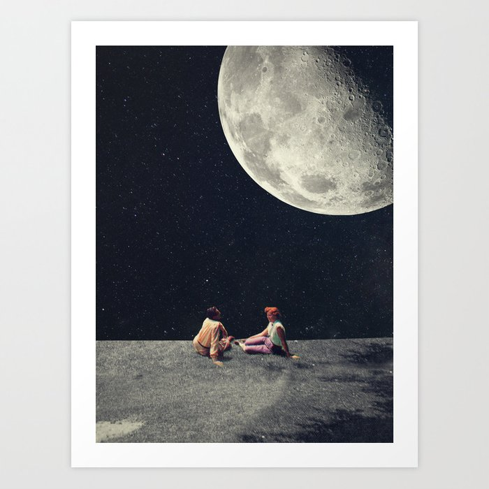 I Gave You the Moon for a Smile Art Print