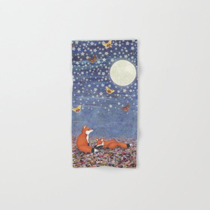 moonlit foxes Hand & Bath Towel