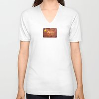 china V-neck T-shirts featuring China by Arken25