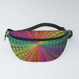 Colorful mosaic pattern design artwork- colorful christmas gifts- pixel art Fanny Pack